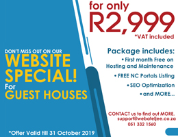 Website Special for Guest Houses | De Aar Accommodation, Business & Tourism Portal